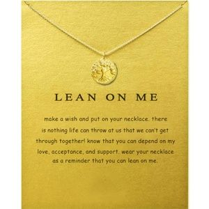 Jewelry - Lean on Me Tree Necklace Gold Silver B8